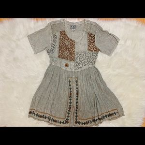 Desert Cat Vintage MPH Bohemian Embroidered Dress